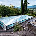 La nouvelle génération d'abris de piscine, belle et fonctionnelle
